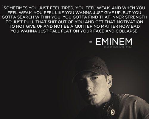 inspirational quotes from eminem quotesgram