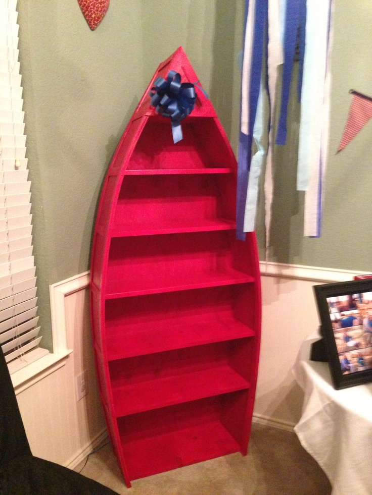 Nursery bookshelf nautical : Nautical boat bookcase for nursery