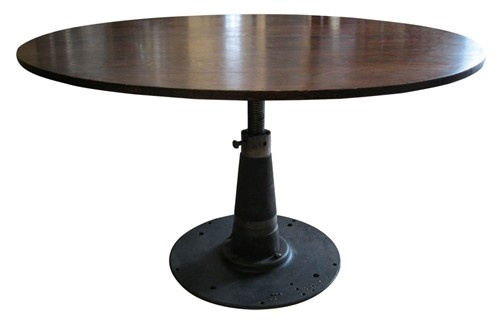 Dining Table Adjustable Height Round Coffee Dining Table