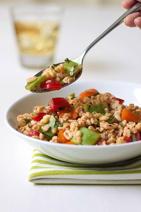 Summer Farro Salad on JillHough.com | My food photography | Pinterest