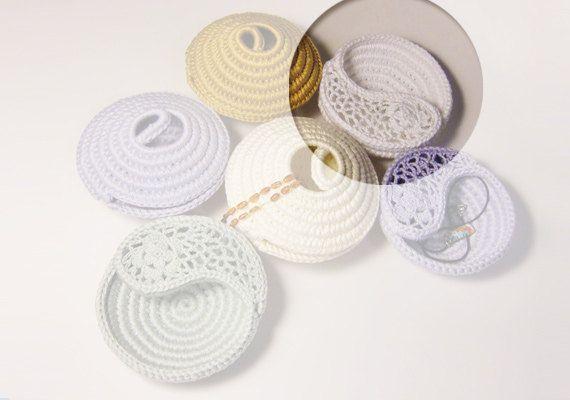 Jewelry Bowl and Display, Yin Yang Decorative Crochet ...