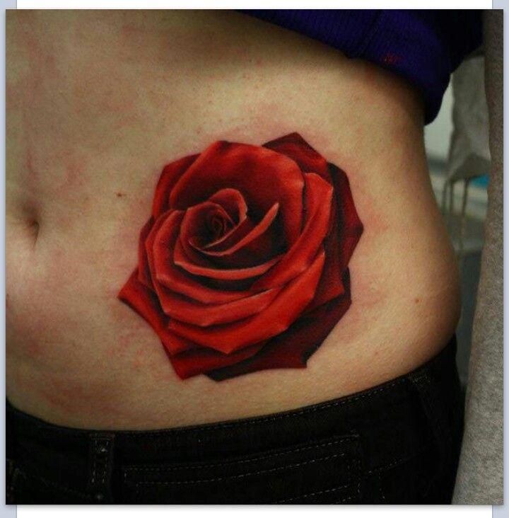 realistic rose tattoo tattoo ideas pinterest. Black Bedroom Furniture Sets. Home Design Ideas