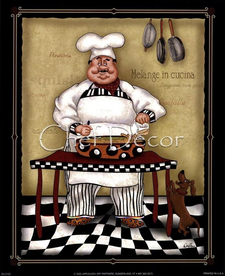Fat chef chef decor pinterest - Chef kitchen decor ...