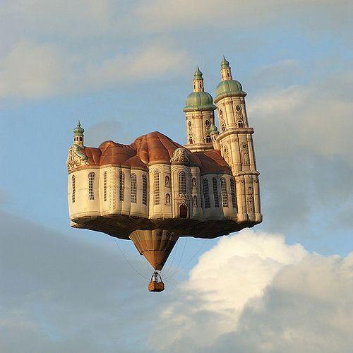 Floating church? Now thats a hot air balloon!