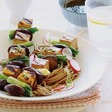 Japanese Tofu Skewers on Soba | Food and More | Pinterest