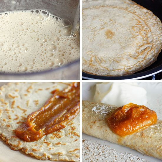 Pumpkin Spiced Crepes with Pumpkin Butter Gina's Skinny Recipes ...