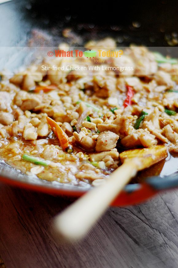 STIR-FRIED CHICKEN WITH LEMONGRASS (4-6 servings) | Recipe