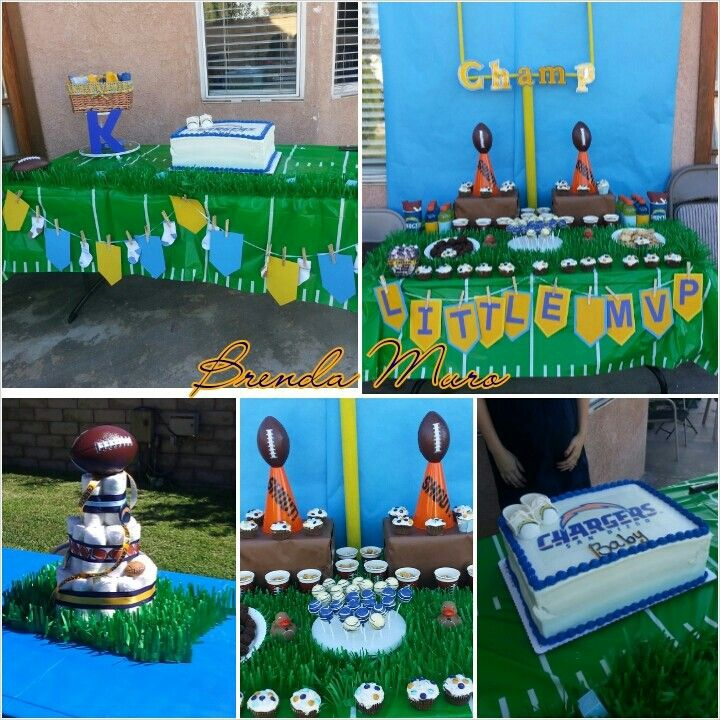 football baby shower party time pinterest