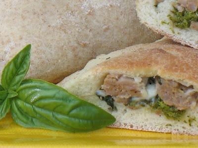 FREEZER: Herbed Turkey Sausage & Broccoli Raab Calzones--- Makes 12 ...