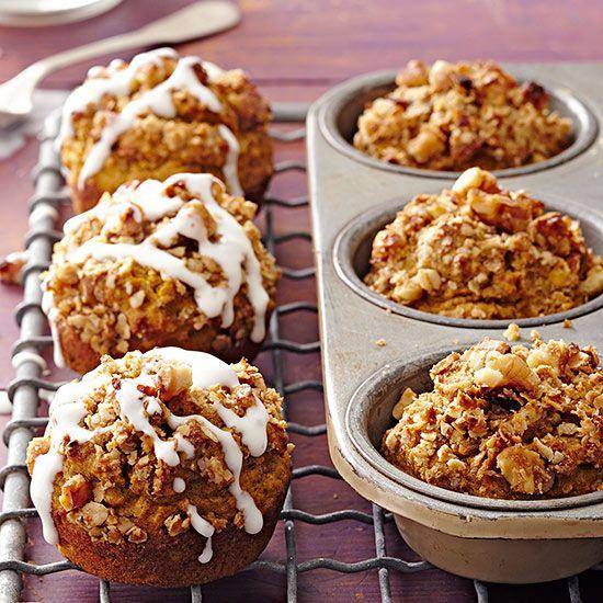 Gluten-Free Pumpkin-Walnut Streusel Muffins
