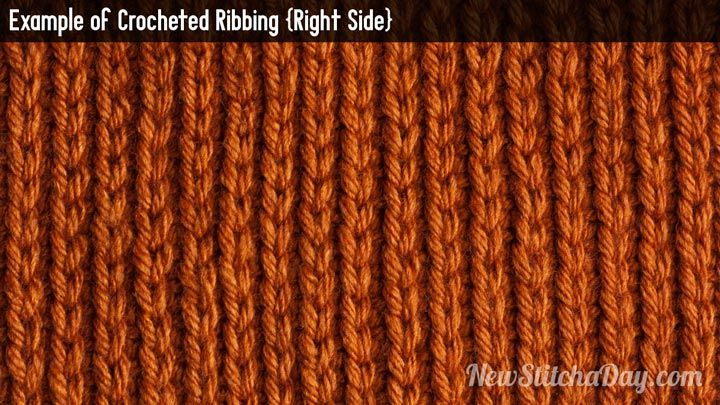 Crochet Stitches Right Side : Example of Crochet Ribbing Right Side Crochet Pinterest