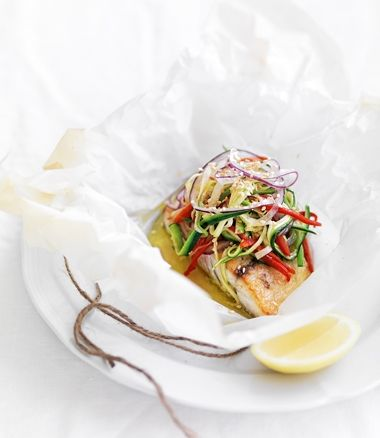 Baked fish in parchment recipes dishmaps for Fish in parchment recipes