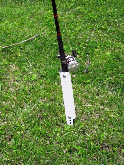 Diy bank fishing rod holders fishing pinterest for How to make a fishing pole holder