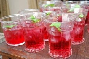 Mistletoe Margarita 16 oz of cranberry juice 6 oz of Sauza® Blue 100% ...