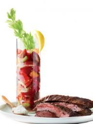 Skirt Steak with Bloody Mary Tomato Salad | KitchenDaily.com