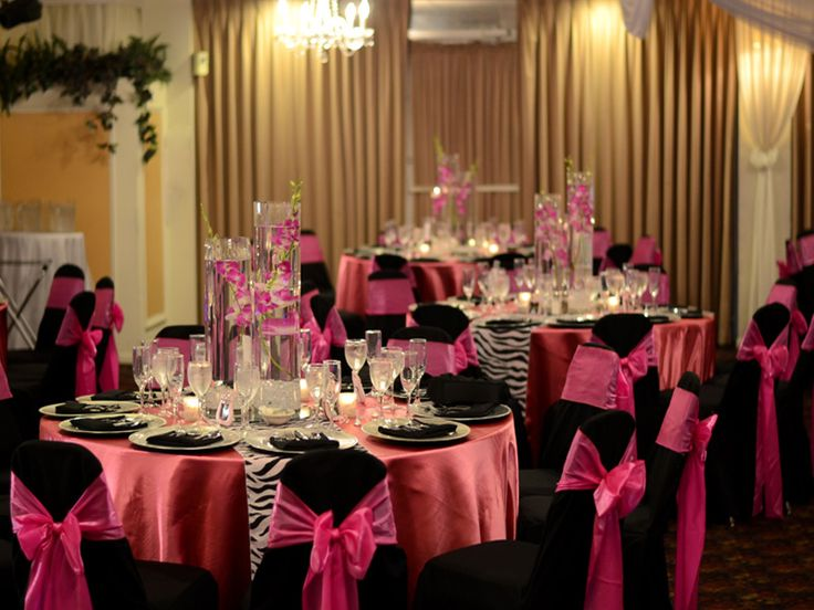 Simple table decorations for banquets centerpieces