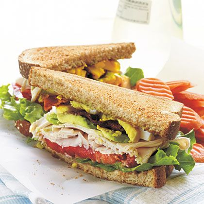 Turkey Cobb Sandwich Recipe — Dishmaps