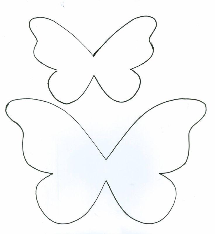 Шаблон бабочки из фетра своими руками 518