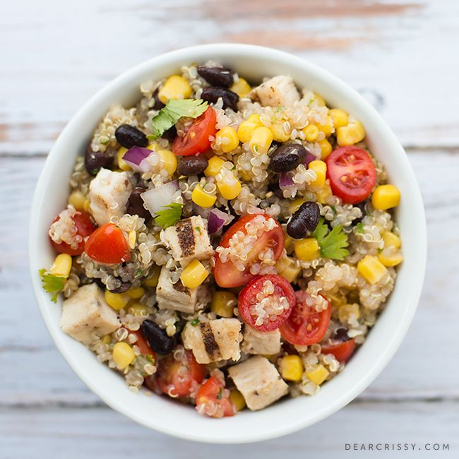 Mexican Quinoa Salad with Grilled Chicken- Definitely won't use Tyson ...