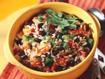 "Moors and Christians"" (seasoned beans & rice) from Cookstr.com"