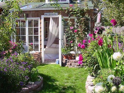 Backyard Garden Sheds Guest House Ideas Pinterest