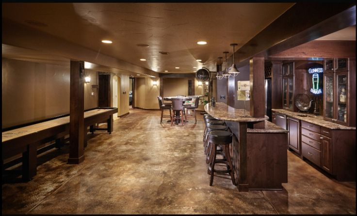 Stained concrete basement floor beautiful concrete for Concrete basement floor