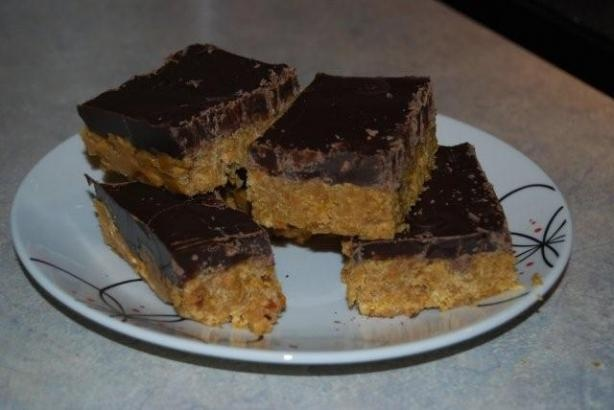 butterlust no bake crispy corn flake chocolate peanut butter bars ...