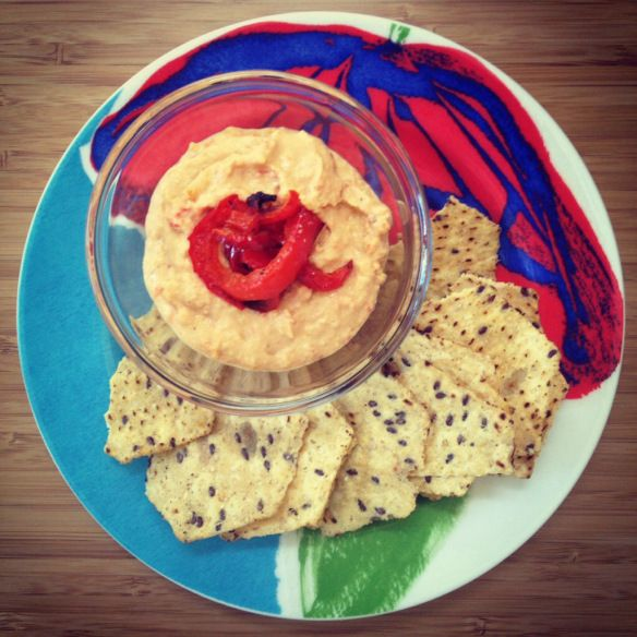Roasted garlic and red pepper hummus   To Savor   Pinterest