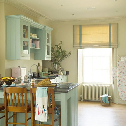Light blue green cabinets for Blue green kitchen cabinets