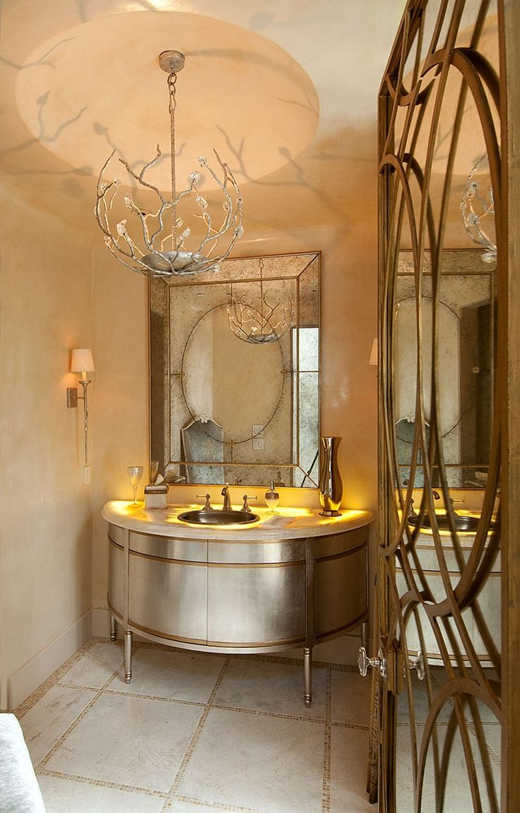 Stunning powder room products i love pinterest for Gorgeous powder rooms
