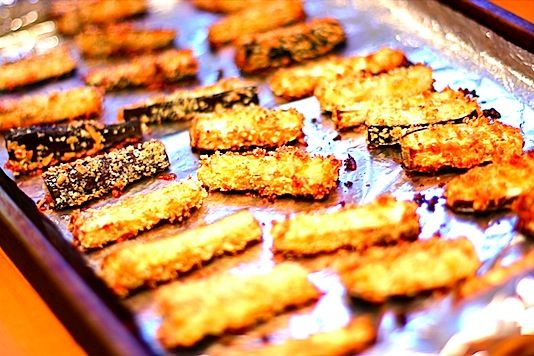 eggplant fries | school snack ideas | Pinterest