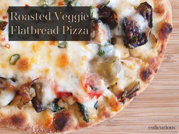 Roasted Veggie Flatbread Pizza Recipe
