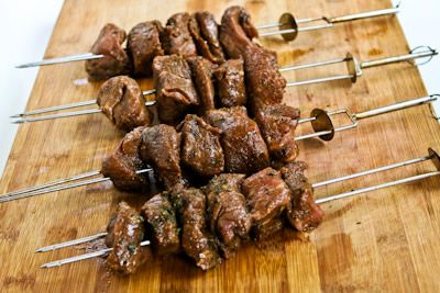 Kalyn's Kitchen: Recipe for Marinated Beef Kabobs