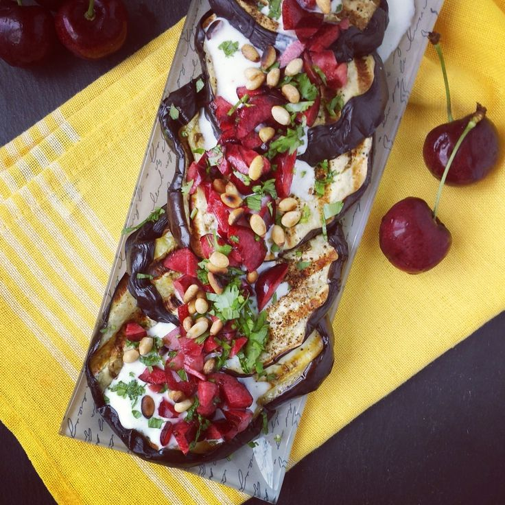 Mango & Tomato: Grilled Eggplant with Buttermilk Sauce, Cherries ...