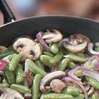 Sugar Snap Peas with Onion & Mushrooms