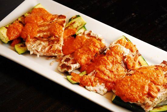 romesco sauce recipes dishmaps salmon with deconstructed romesco sauce ...