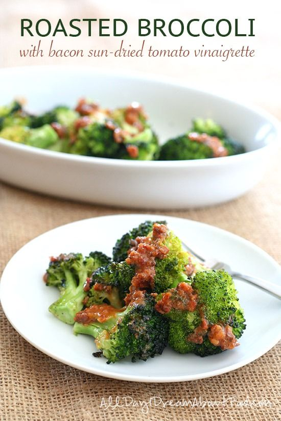 Roasted Broccoli with the most delicious paleo low carb dressing. You ...