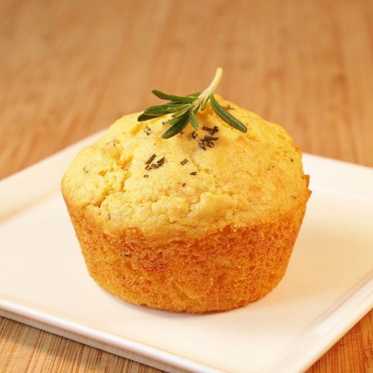 Rosemary Parmesan Cornbread Muffins   Food (Bread)   Pinterest