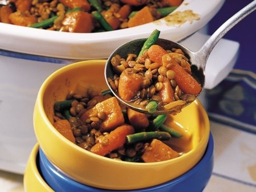 Curried Sweet Potato and Lentil Stew. | Eat to Live | Pinterest