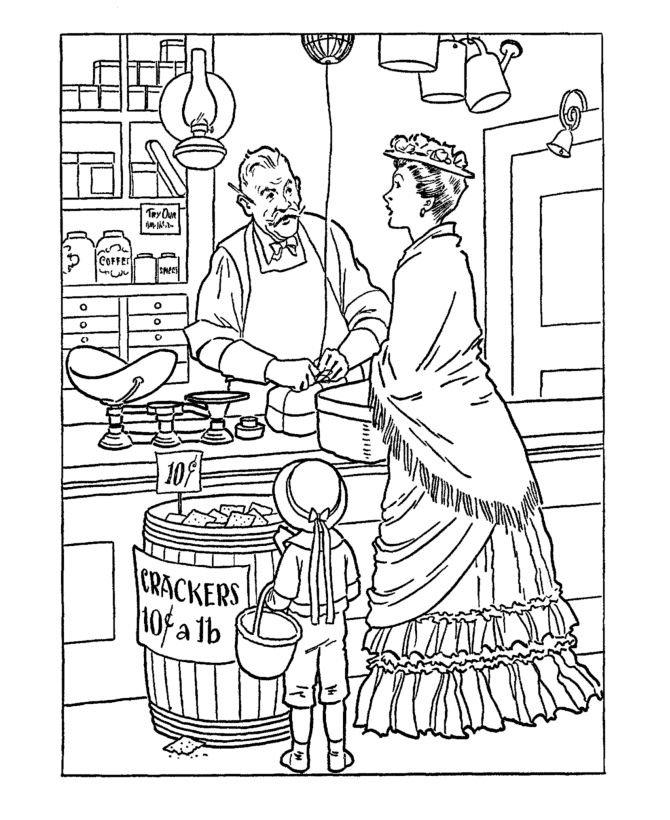 Early American Trades Coloring Page Cool Educational Colonial America Coloring Pages