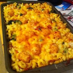 "Broccoli Mac and Cheese with Bacon and Potato Nugget Topping | ""My ..."