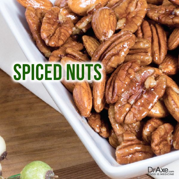 Spiced Nuts: 1/2 c. honey 1-2 c. pecans, almonds or walnuts 1 tsp ...