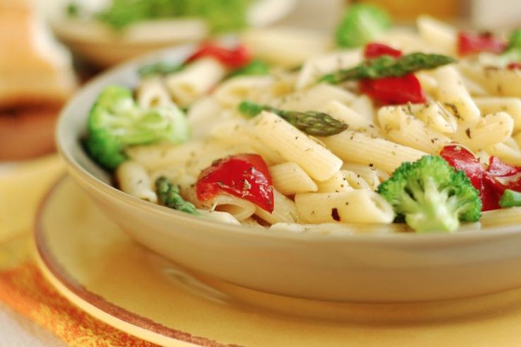 Gluten-Free Pasta with Roasted Vegetables and Lemon Parmesan Sauce