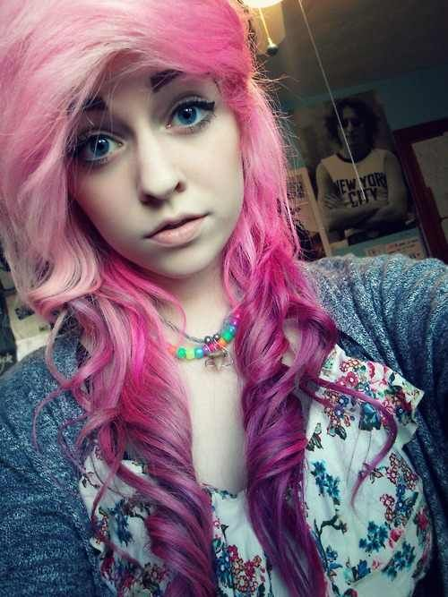 pink and purple scene hair dyed hair amp pastel hair