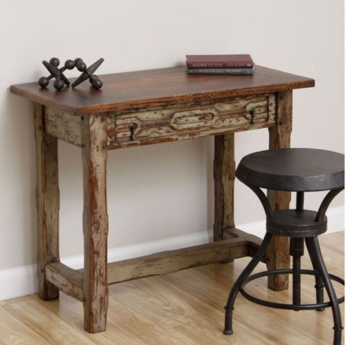 Rustic Antique Wooden Accent Table Vintage Imported Handcrafted Furni