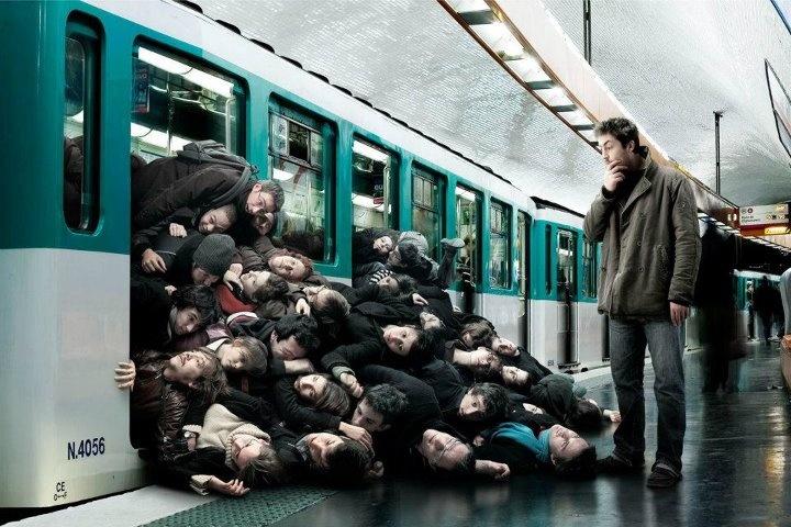Un matin dans le métro parisien