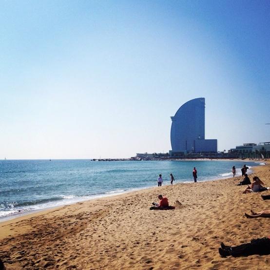 Beach Near W Hotel Barcelona
