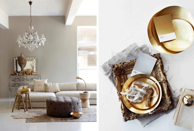 Gold Accents #MarieClaire #gold #decor