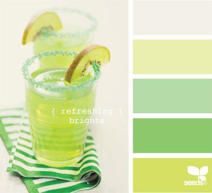 love the greens! #design