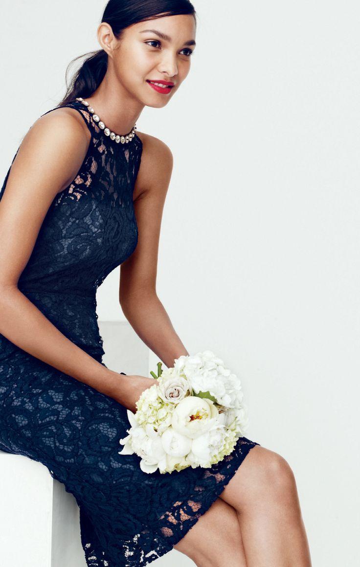 Pamela dress in leavers lace for Jcrew com